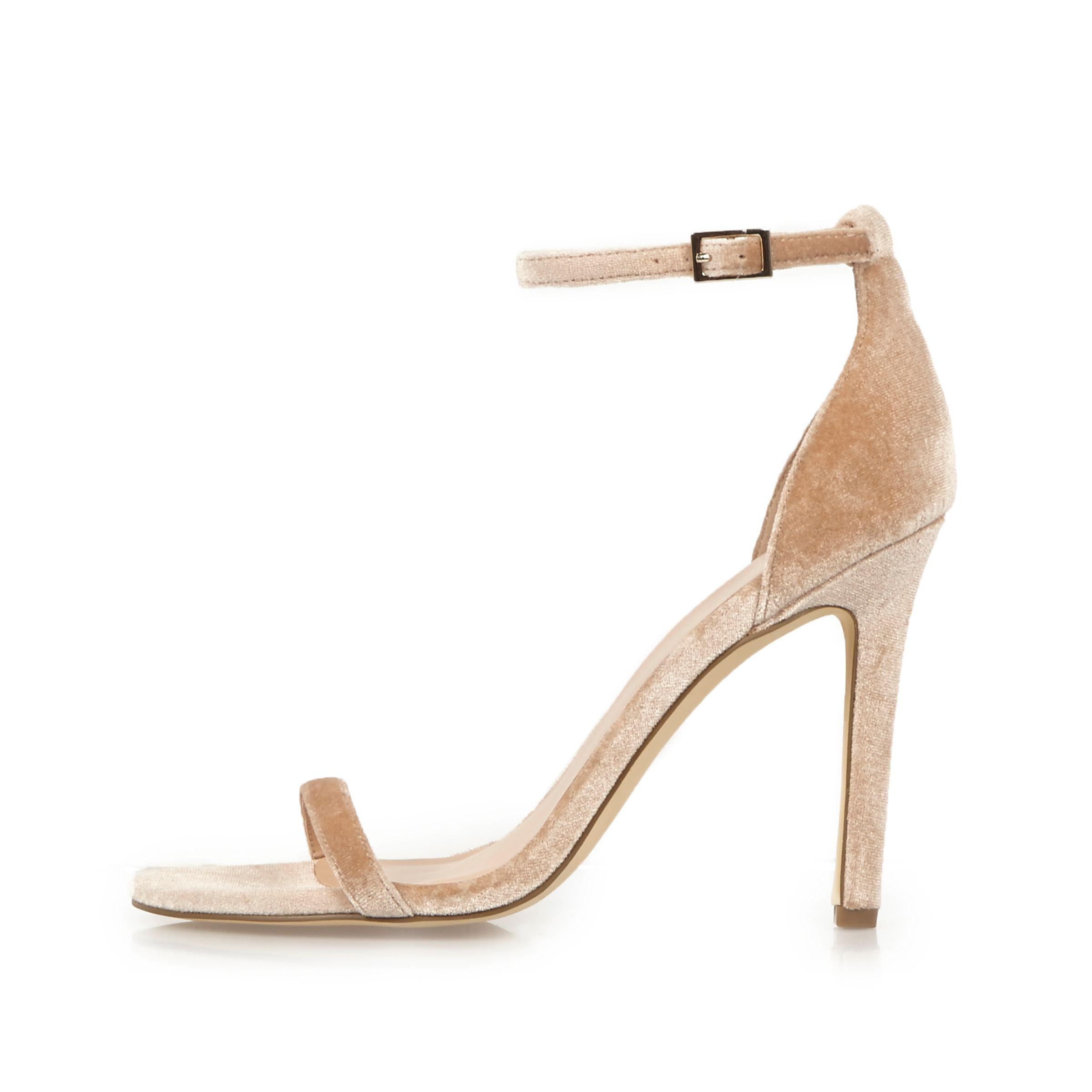 Womens Nude barely there platform sandals River Island olnn8ml