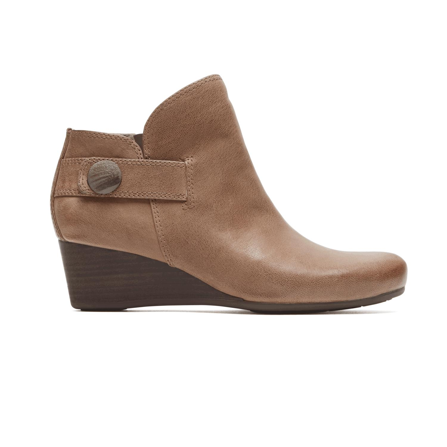 10ad868ef9a5 Lyst - Rockport Total Motion Wedge Stone Bootie in Brown