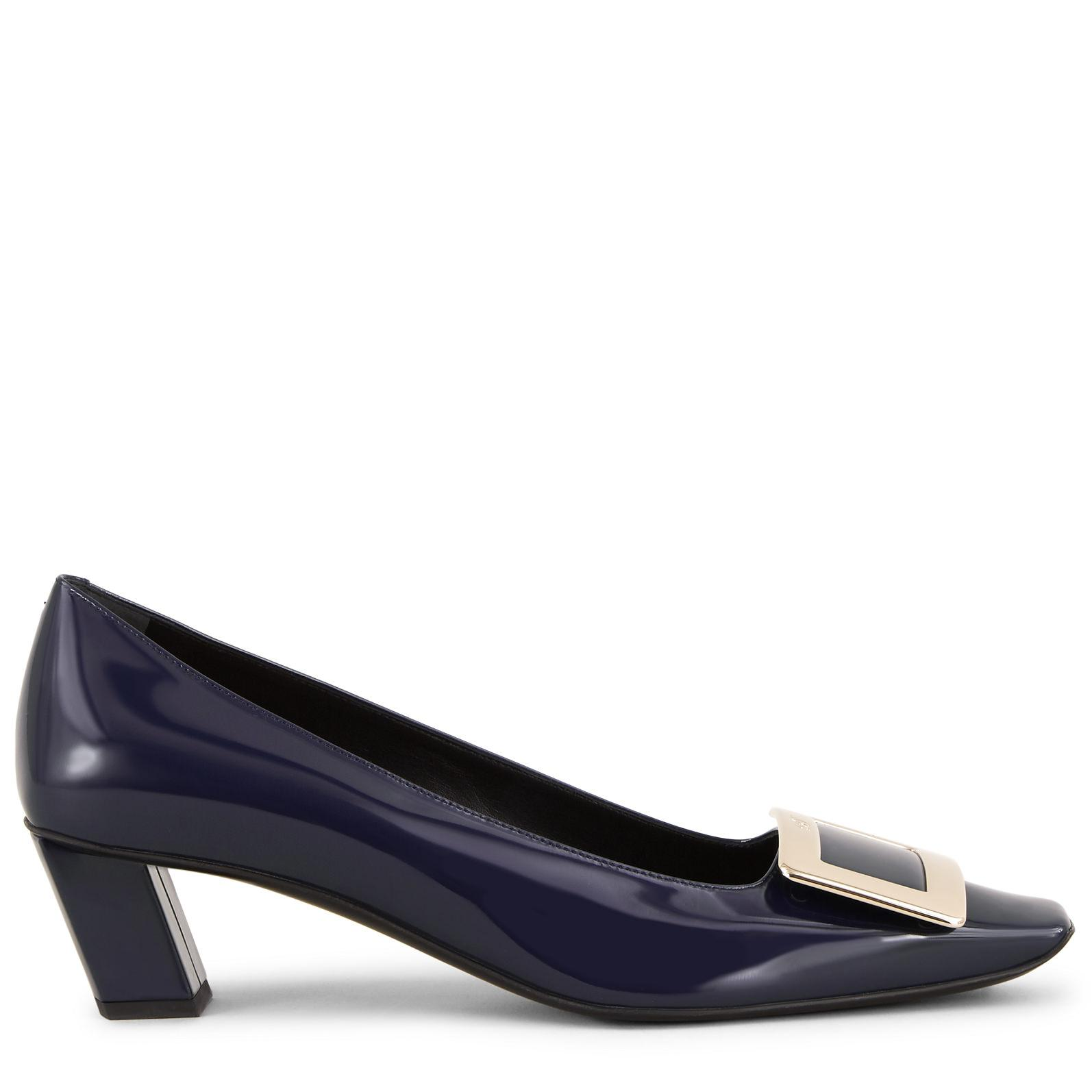 dcaa51a56 Lyst - Roger Vivier Belle Vivier Metal Buckle Pumps in Blue