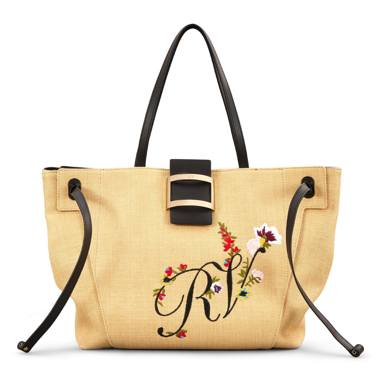 d069be4157 Lyst - Roger Vivier Viv  Blooming Rv Tote Large