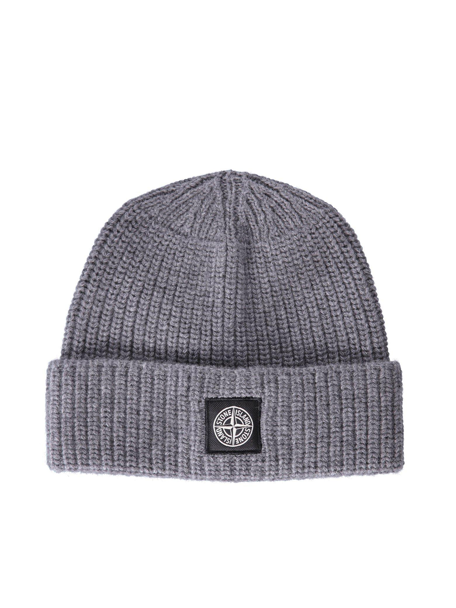 8a08d892817 ... Ribbed Beanie in Gray for Men  website for discount e4849 8c895 Stone  Island. Gray Hat Men ...