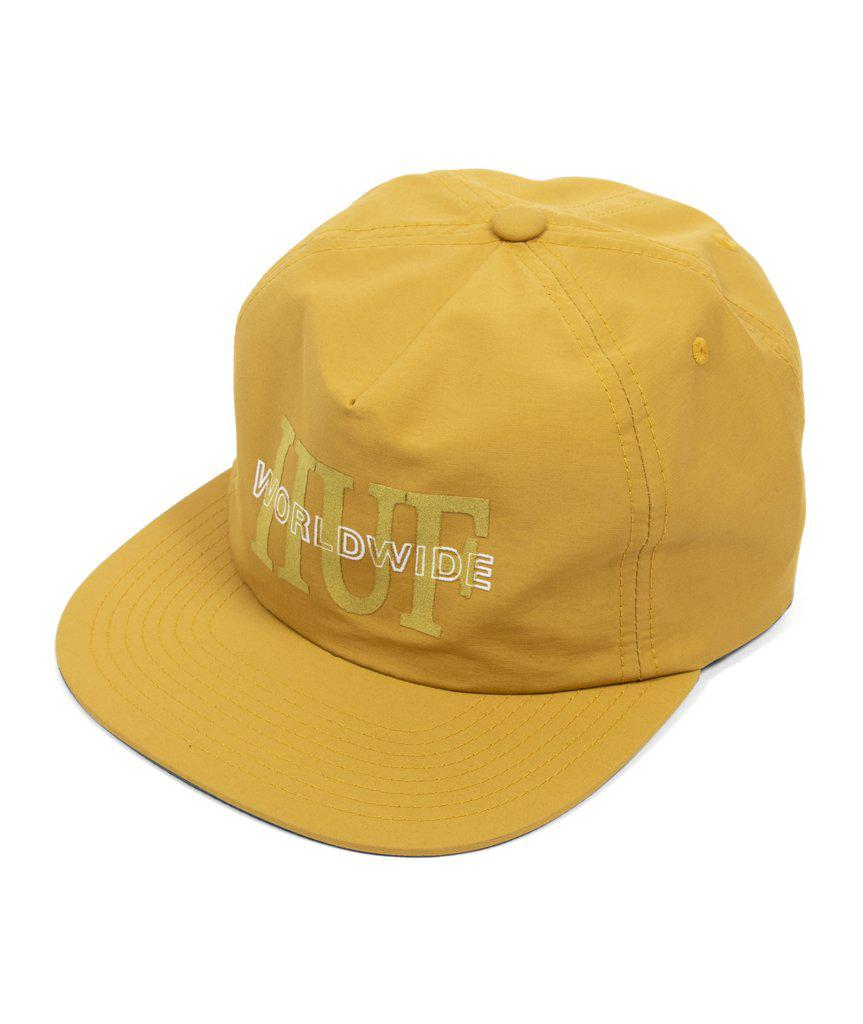 f028615f Lyst - Huf National Strapback Hat in Yellow for Men