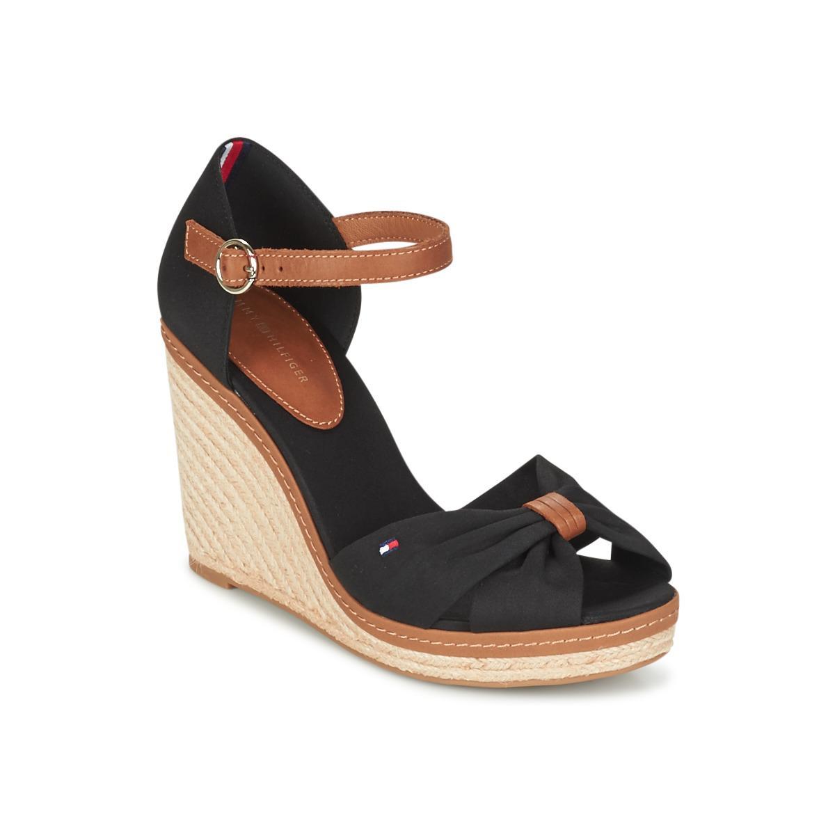 71002dc698ad Tommy Hilfiger Elena 56d Sandals in Black - Lyst