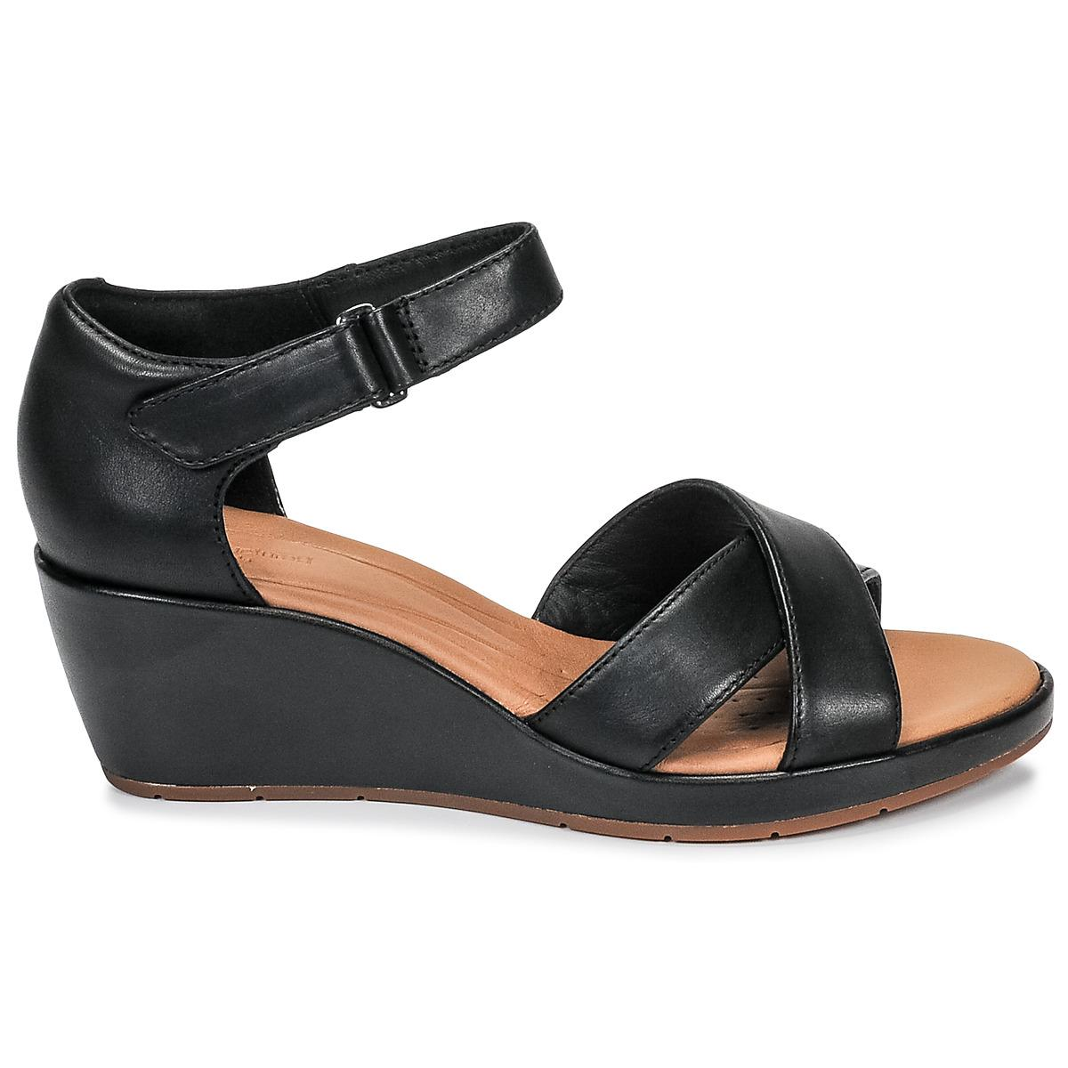6a8383a19557 Clarks - Black Un Plaza Cross Sandals - Lyst. View fullscreen