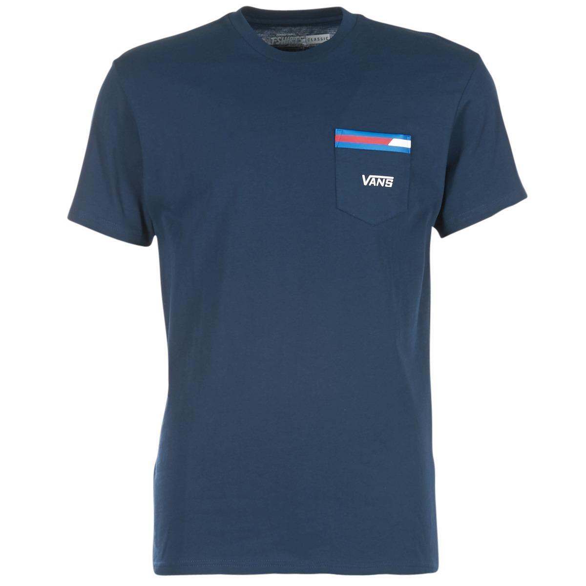 977e41f36c Vans Block Stripe Pocket Tee T Shirt in Blue for Men - Lyst