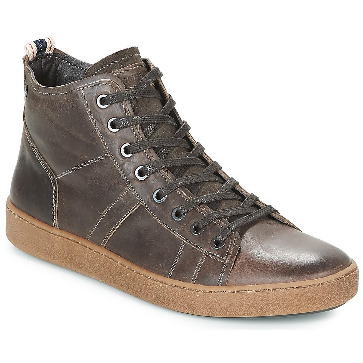 quality design c60e9 6dec8 Jack   Jones Duncan Leather Ltd Shoes (high-top Trainers) in Gray ...