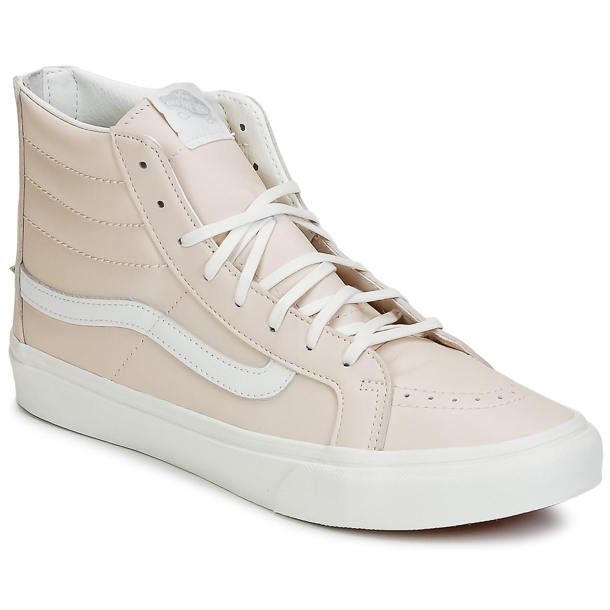 d6f9b74572 Vans Sk8-hi Slim Zip Shoes (high-top Trainers) in Pink - Lyst