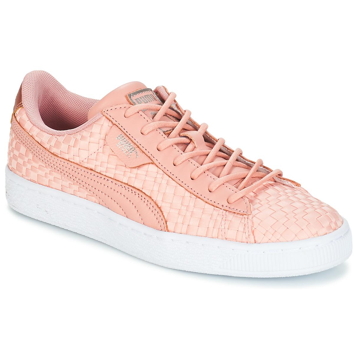 8e9203eef5d Puma Basket Satin Ep Wn s Shoes (trainers) in Pink - Lyst