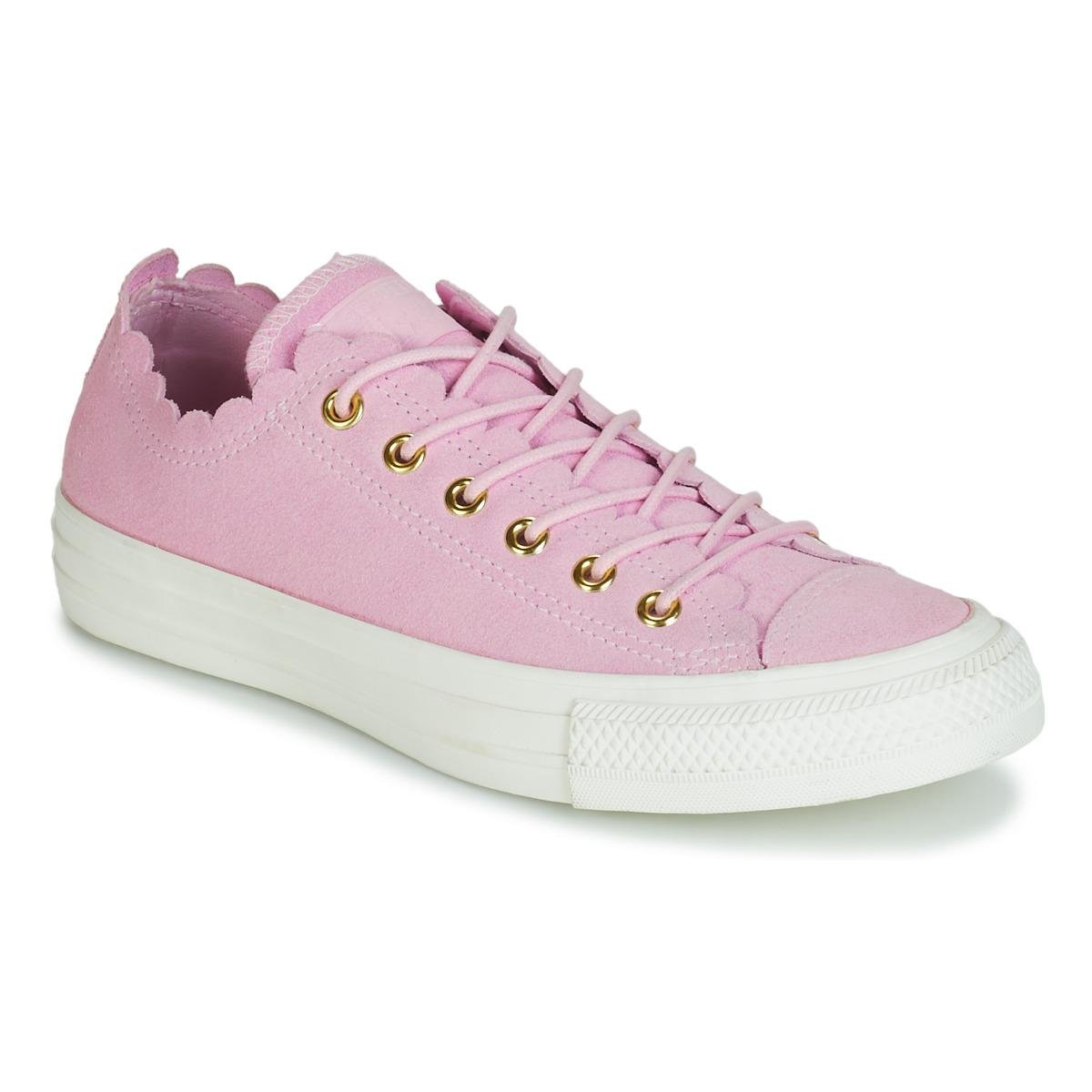 Converse Chuck Taylor All Star Frilly Thrills Suede Ox Shoes ... c02e1a710