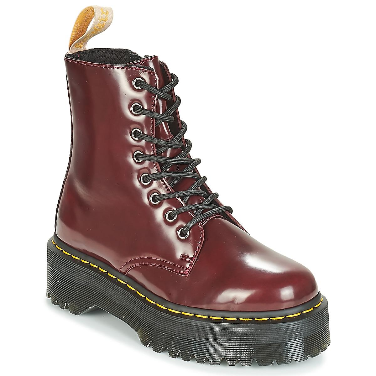 6df2aaf814ff Dr. Martens Jadon Mid Boots in Red - Lyst