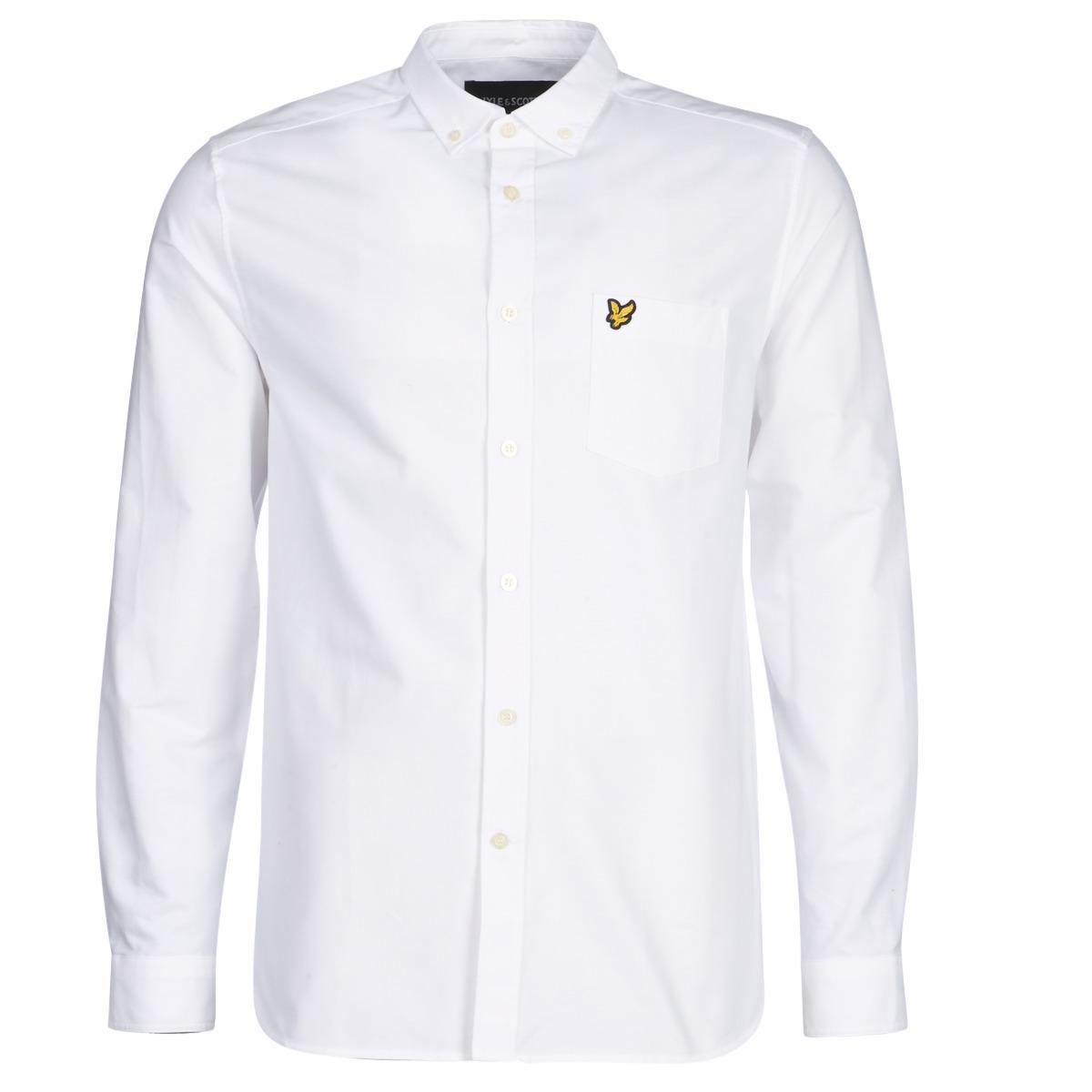 5b374e353b4 Lyle   Scott Fafarlite Long Sleeved Shirt in White for Men - Lyst