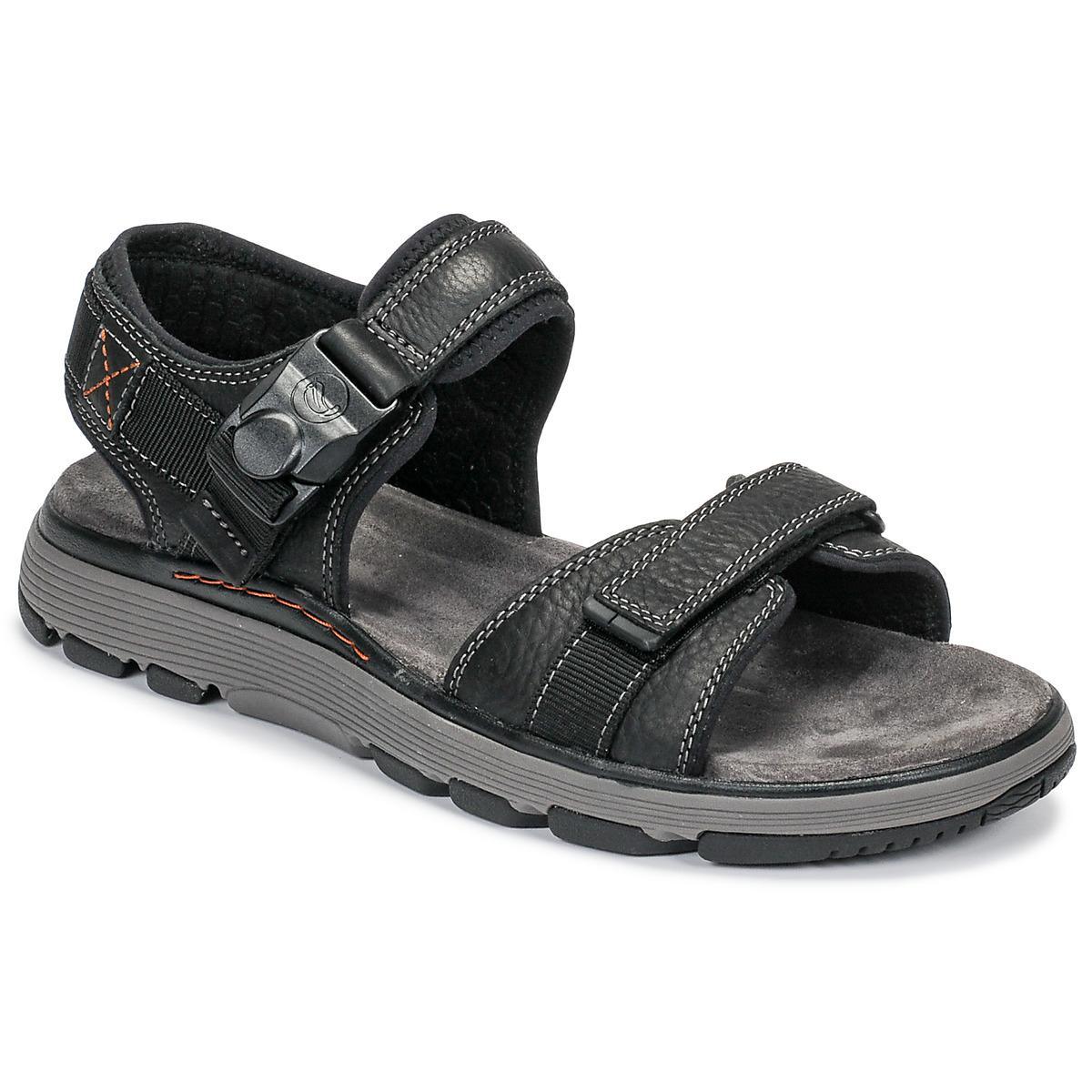 b9f78e6c82bc Clarks Un Trek Part Sandals in Black for Men - Save 3% - Lyst