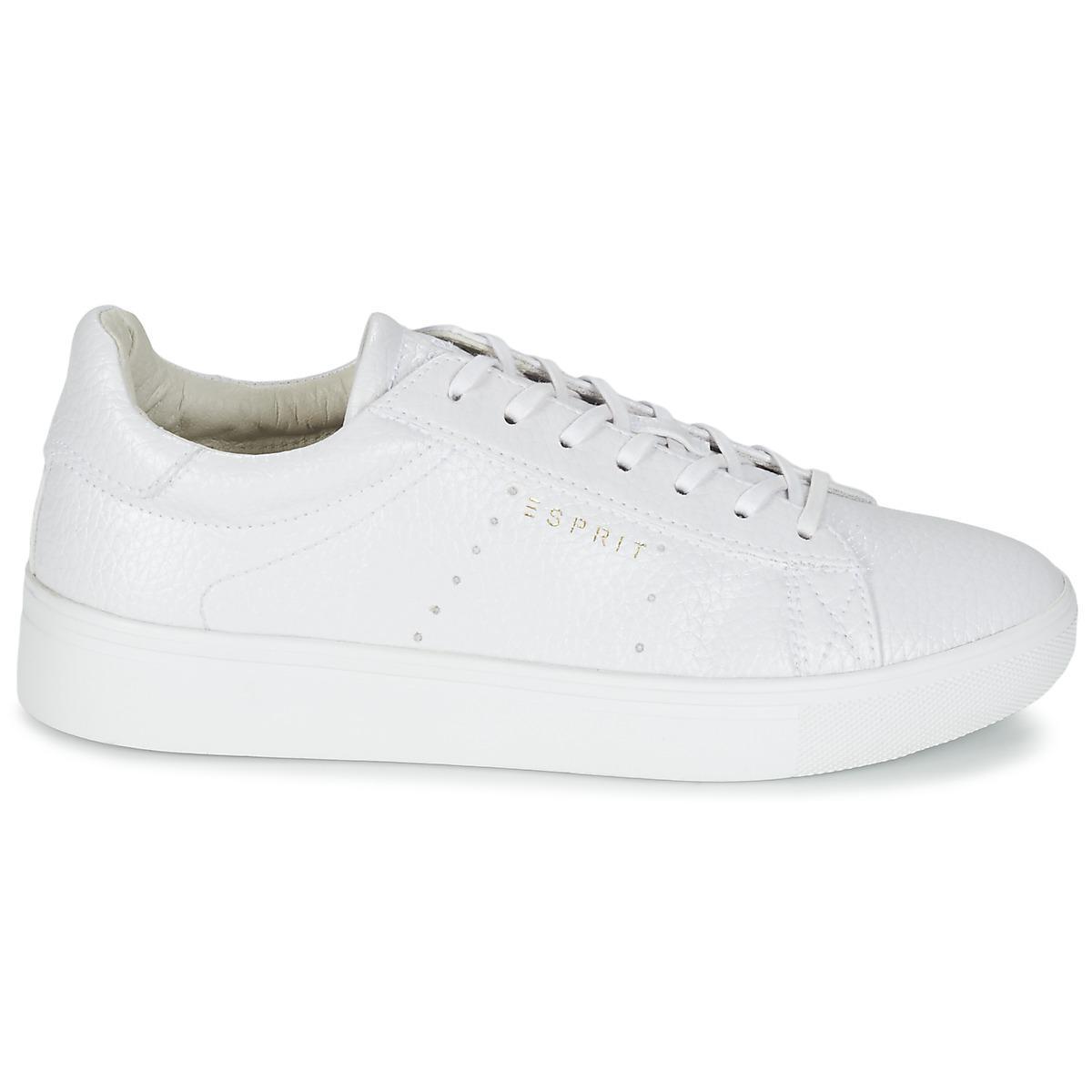 Esprit lizette lace up shoes trainers in white lyst jpg 1200x1200 Esprit tennis  shoes 4e6bc925b