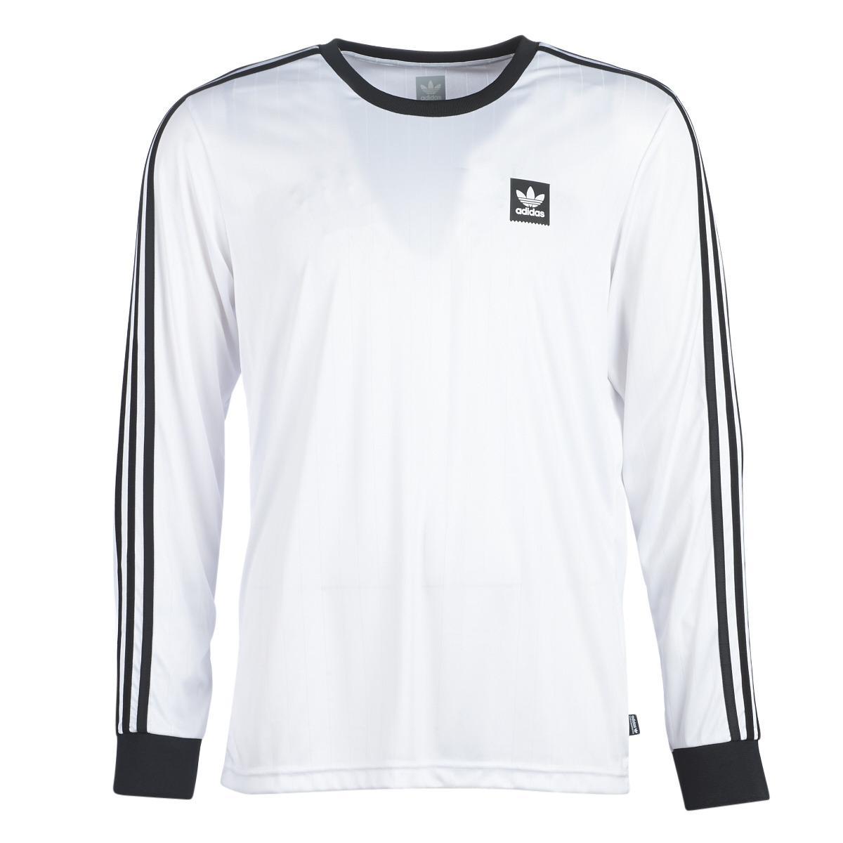the best attitude 8d5cc 8d7da Adidas - White Ls Club Jersey Long Sleeve T-shirt for Men - Lyst. View  fullscreen