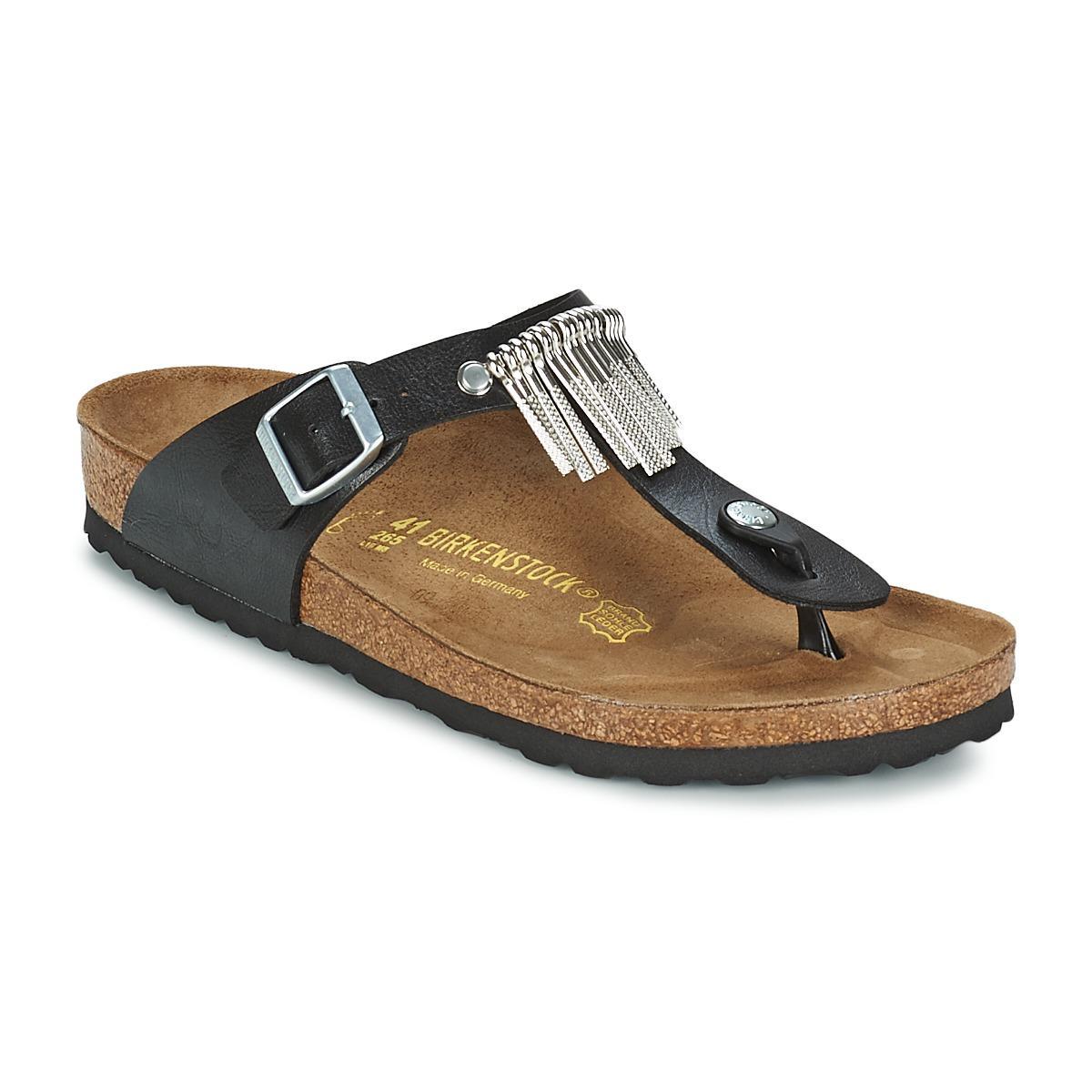 0179ae894b1e Birkenstock Gizeh Fringe Flip Flops   Sandals (shoes) in Black - Lyst