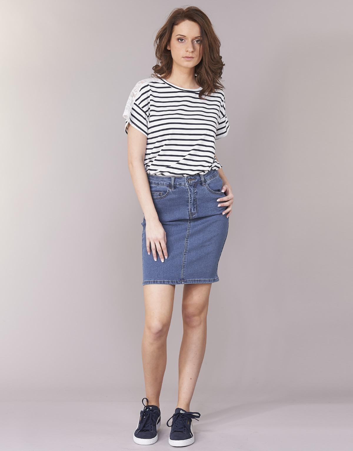 2a587d4080 Vero Moda Vmhot Nine Skirt in Blue - Save 17% - Lyst