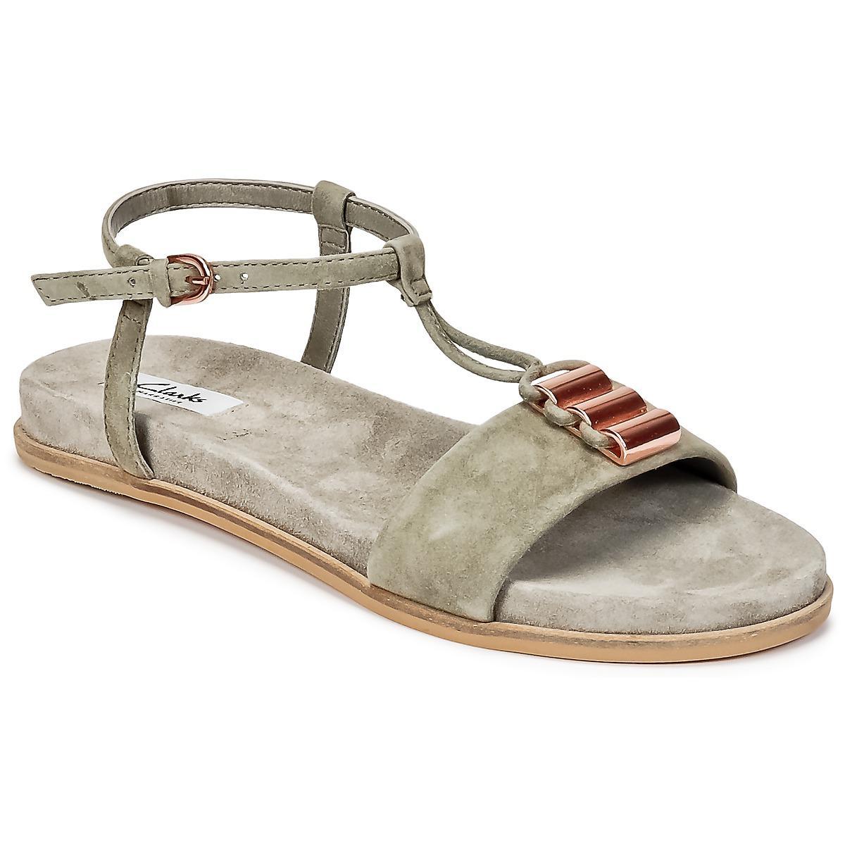 e9a3baf5de8 Clarks Agean Cool Sandals in Gray - Lyst