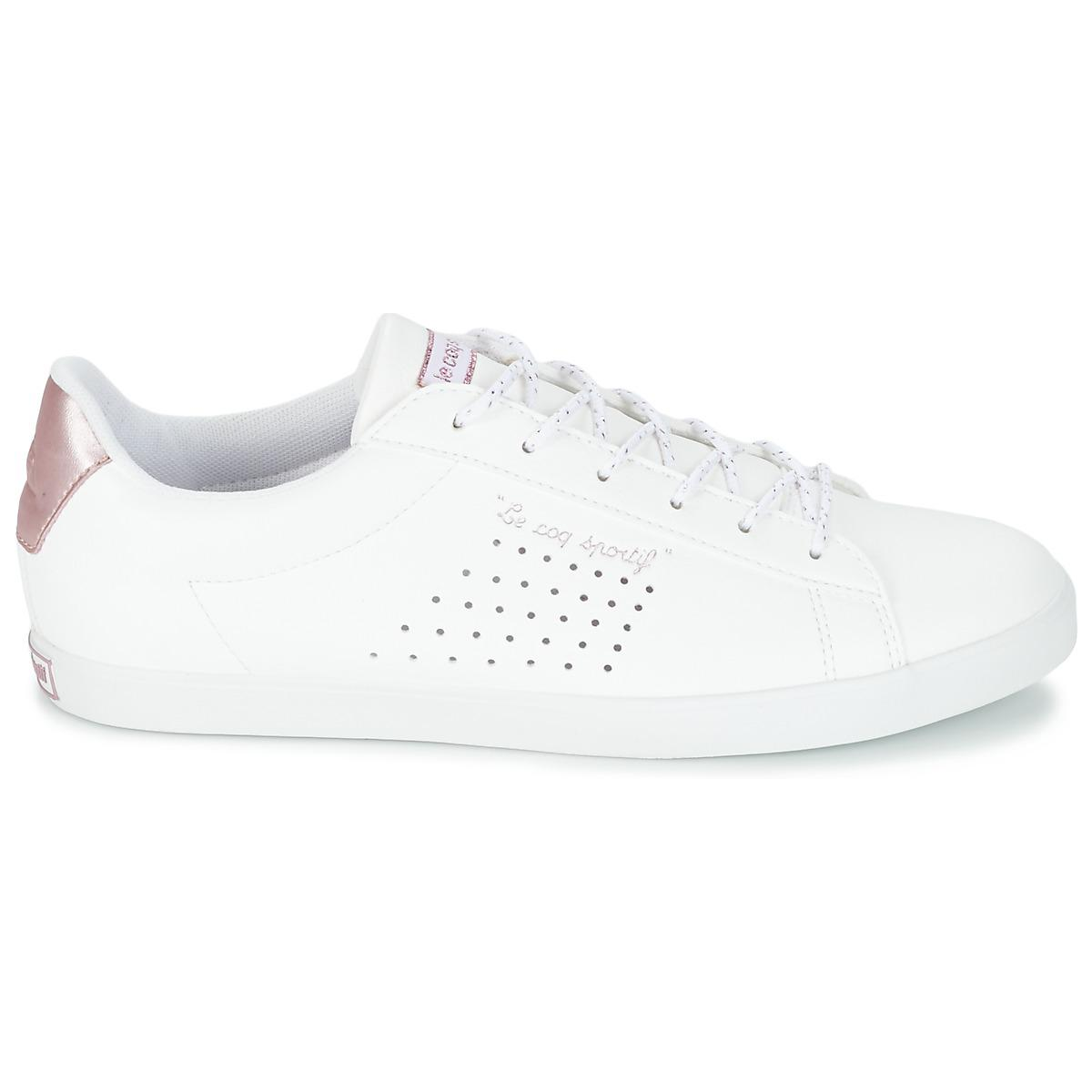 c0ae339433ca Le Coq Sportif Agate Lo S Lea metallic Shoes (trainers) in White - Lyst