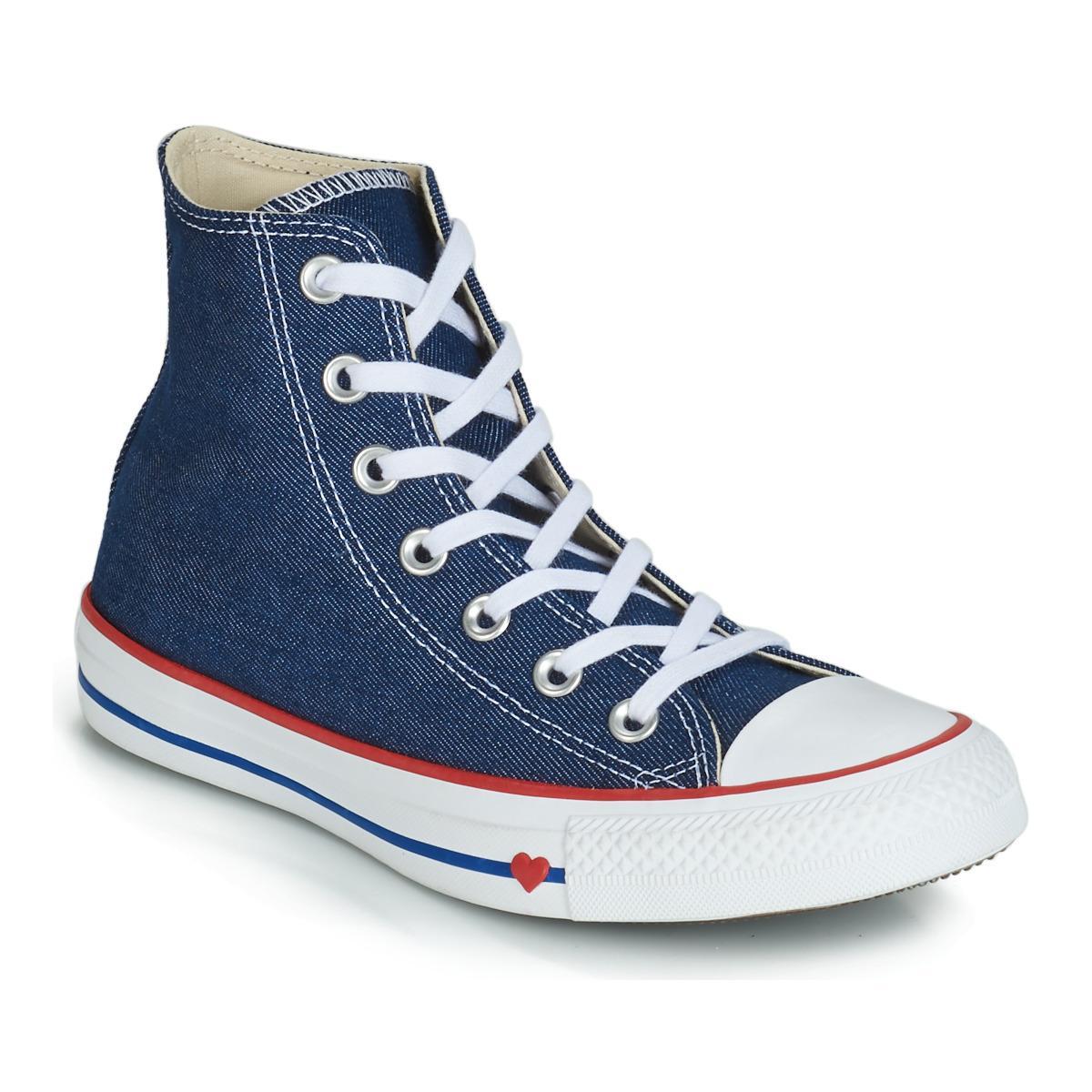 e5c30a9f9236 Converse. Women s Blue Chuck Taylor All Star Sucker For Love Textile Hi  Shoes ...