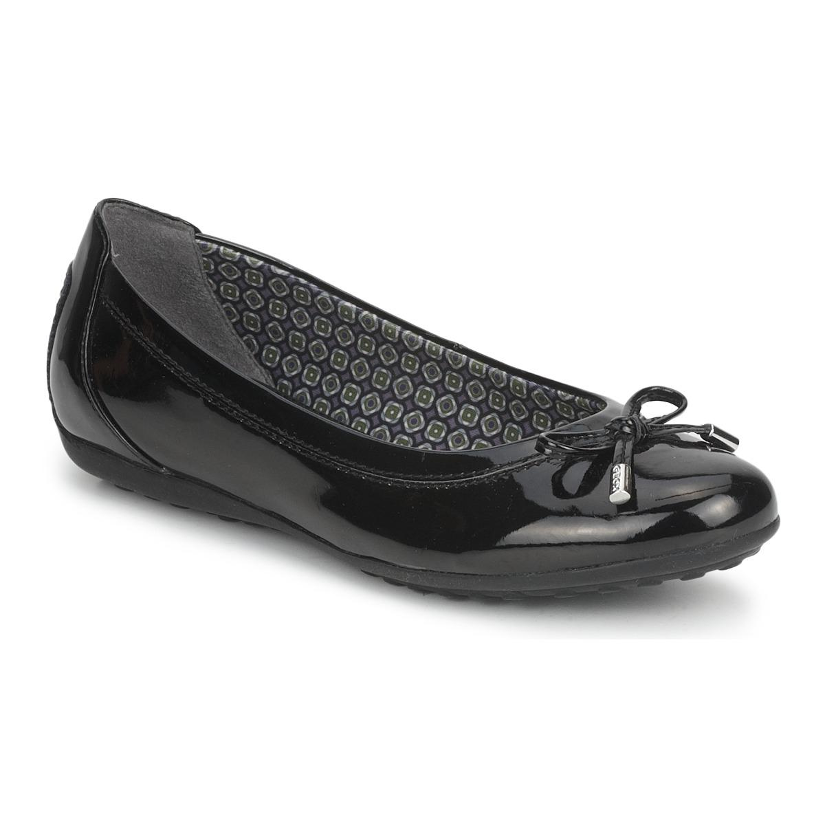 0aa163e61be Geox Piuma Ballerina Patent Shoes (pumps   Ballerinas) in Black - Lyst
