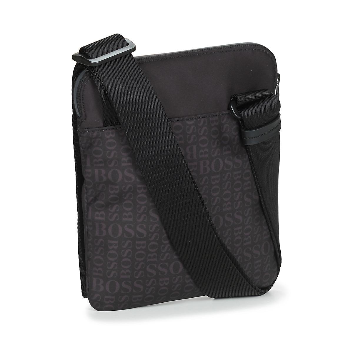 6177346118 BOSS Athleisure - Black Lighter S Zip Env Pouch for Men - Lyst. View  fullscreen