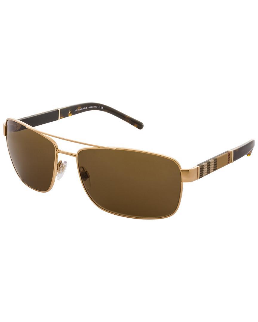 5262eaf46e52 Lyst - Burberry Men s Be3081 63mm Sunglasses for Men