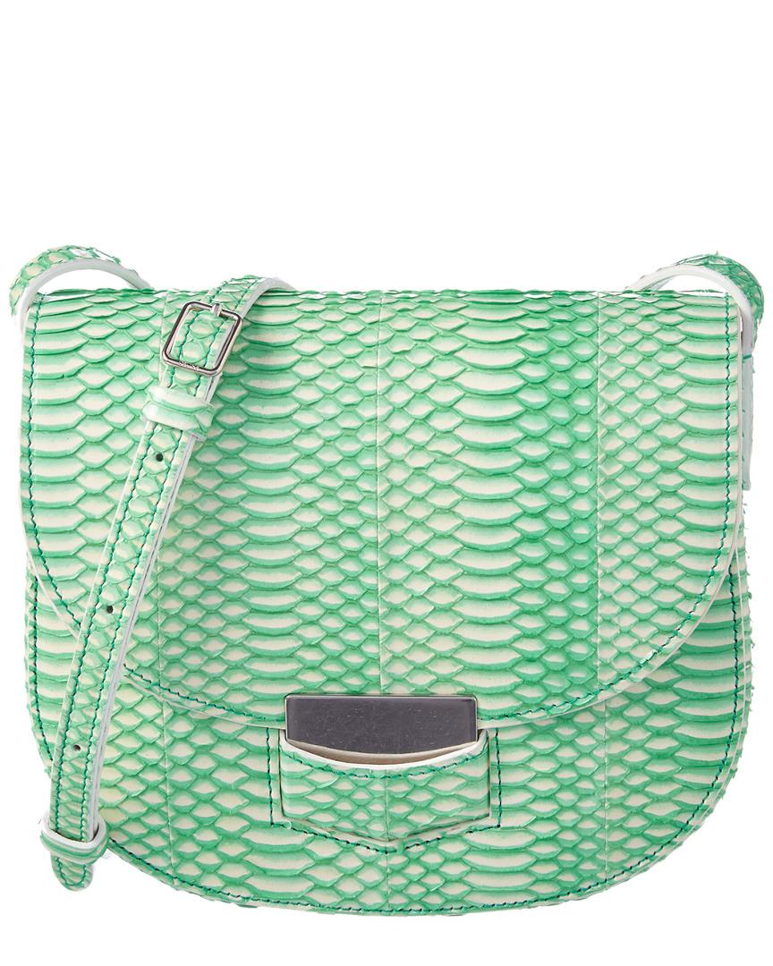1f8b63699b Céline Trotteur Small Bicolor Snake Embossed Crossbody in Green ...