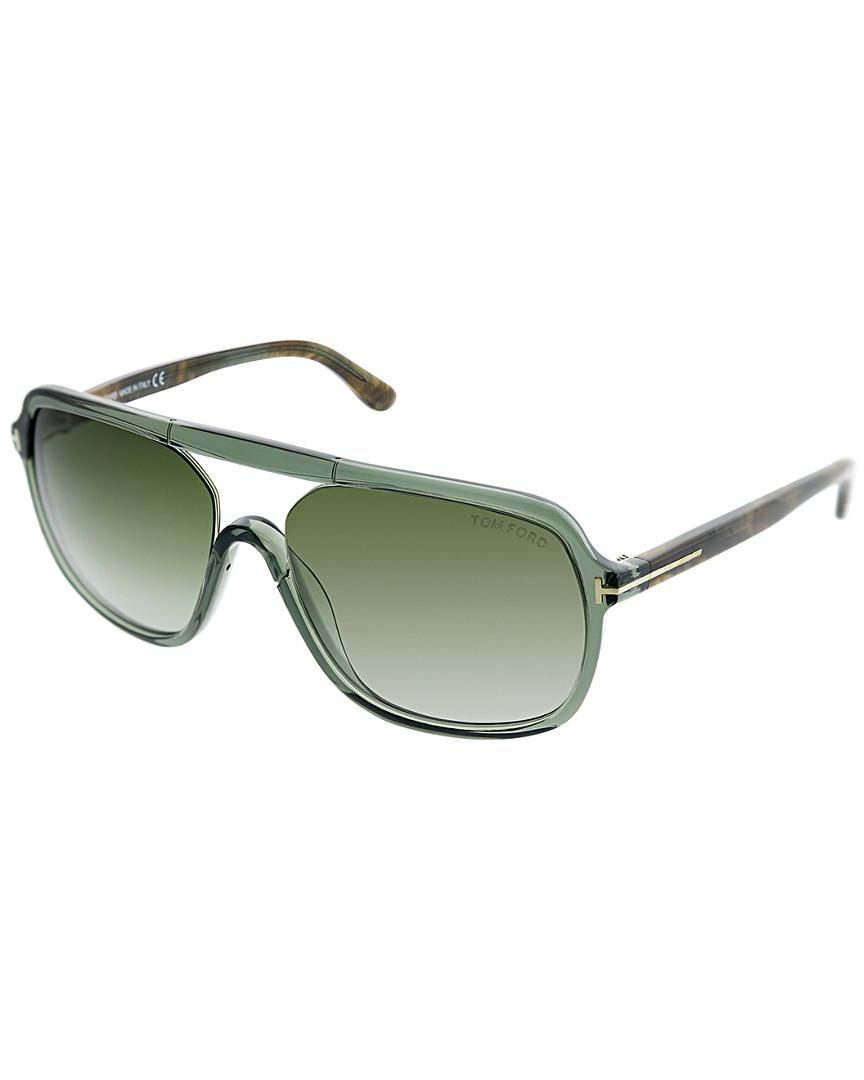 412588572e Lyst - Tom Ford Unisex Tf 0442 59mm Sunglasses in Green - Save 1%