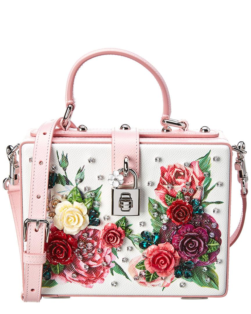 bf130b4438e2 Dolce   Gabbana Dolce Box Bag Leather Crossbody in Pink - Lyst