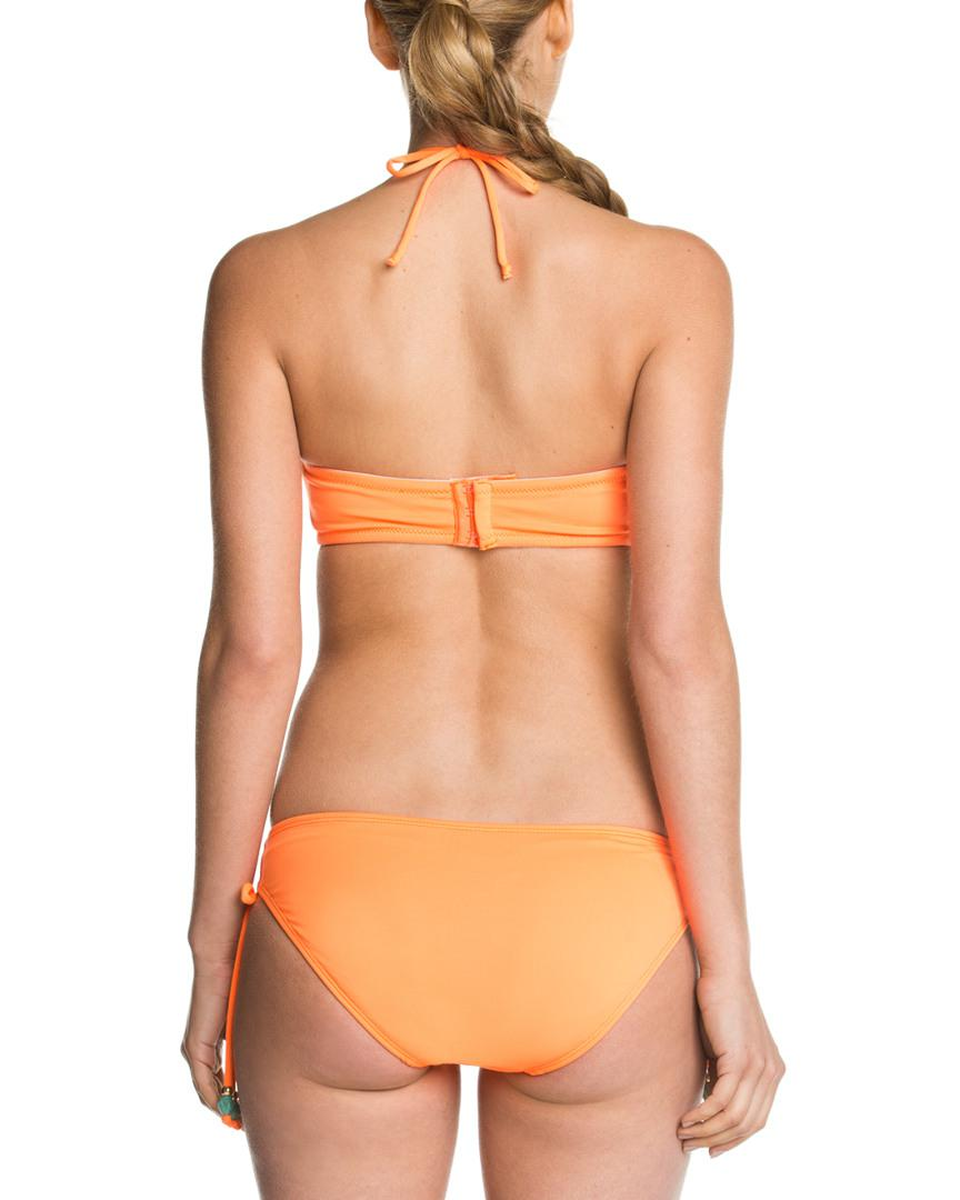 ecea5f6111147 Lyst - Shoshanna Solid Neon Orange Beaded Bow Brief Bottom in Orange - Save  52%