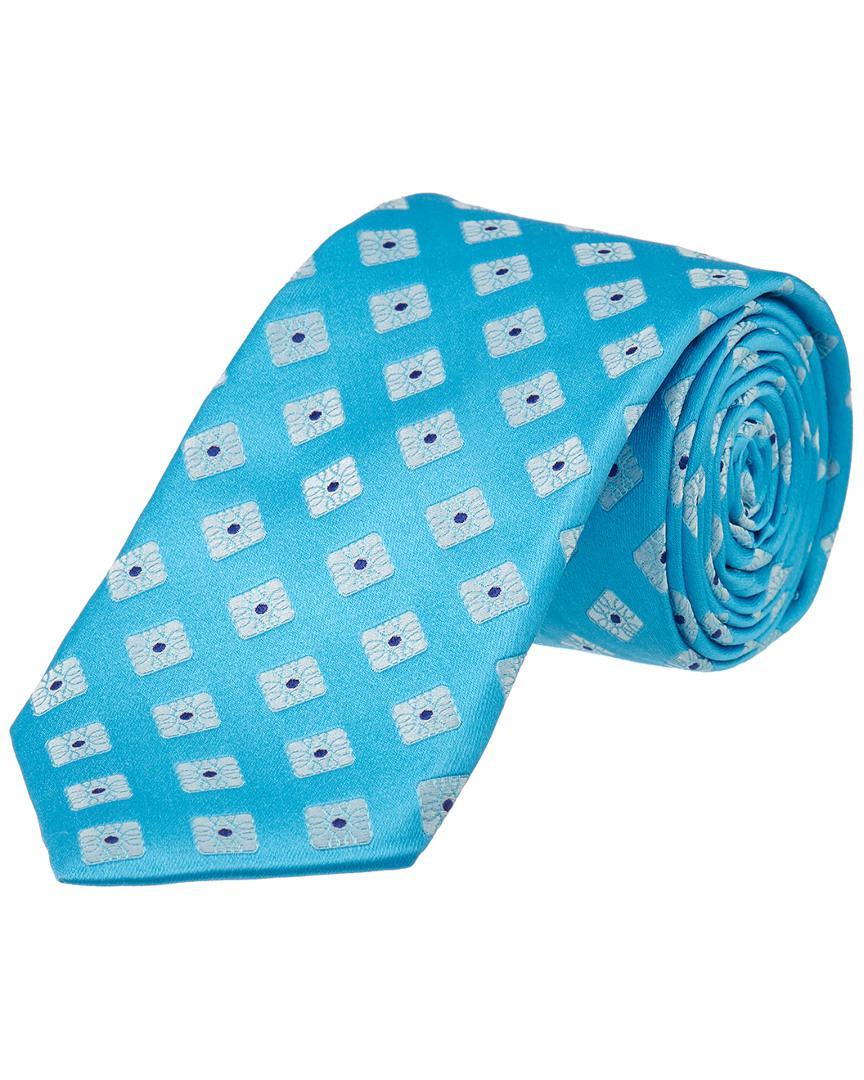21774fe73b99 Lyst - Ike Behar Turquoise Summer Squares Silk Tie in Blue for Men