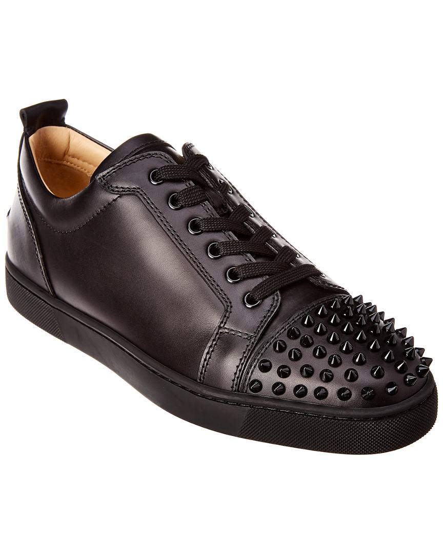 6fd0905e1208 Lyst - Christian Louboutin Louis Junior Leather Sneaker in Black for ...
