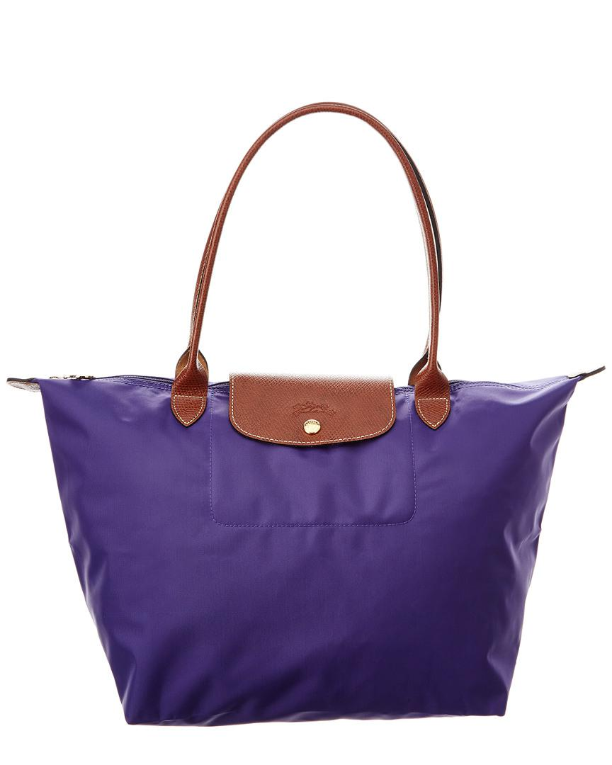 4e9faba4630ec Longchamp Le Pliage Large Nylon Tote in Purple - Lyst