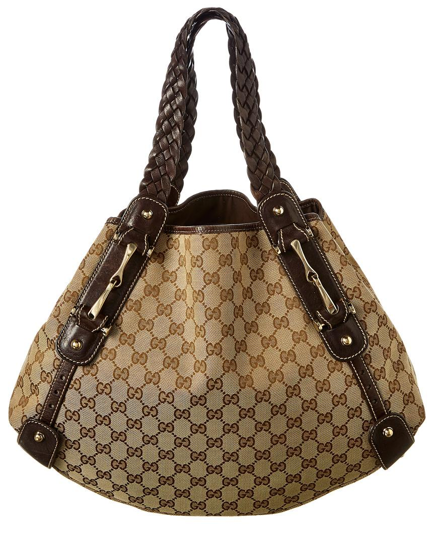 Gucci Brown GG Canvas   Leather Pelham Bag in Brown - Lyst 32eacc1123375