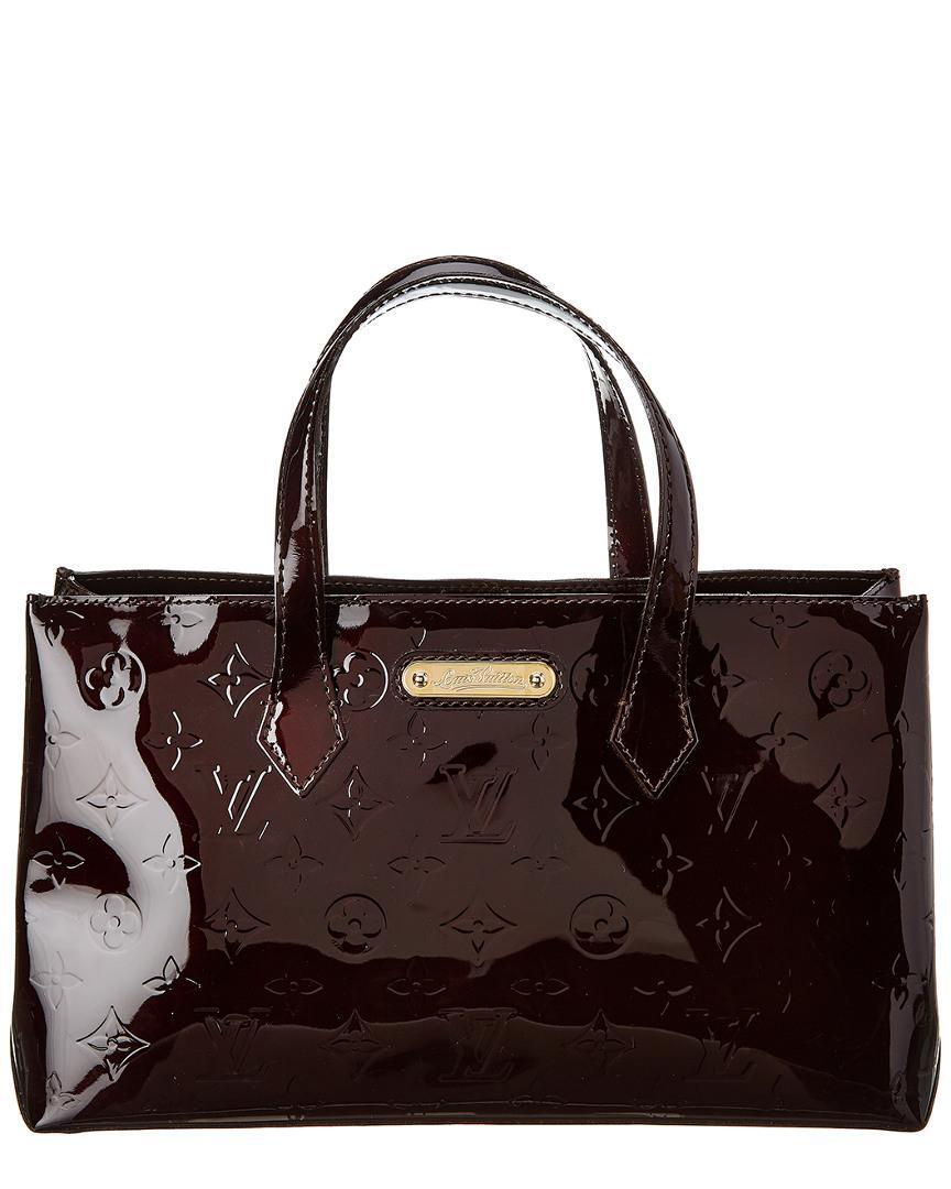 1ab7e2b9e0dc Louis Vuitton. Women s Purple Monogram Vernis Leather Wilshire Pm