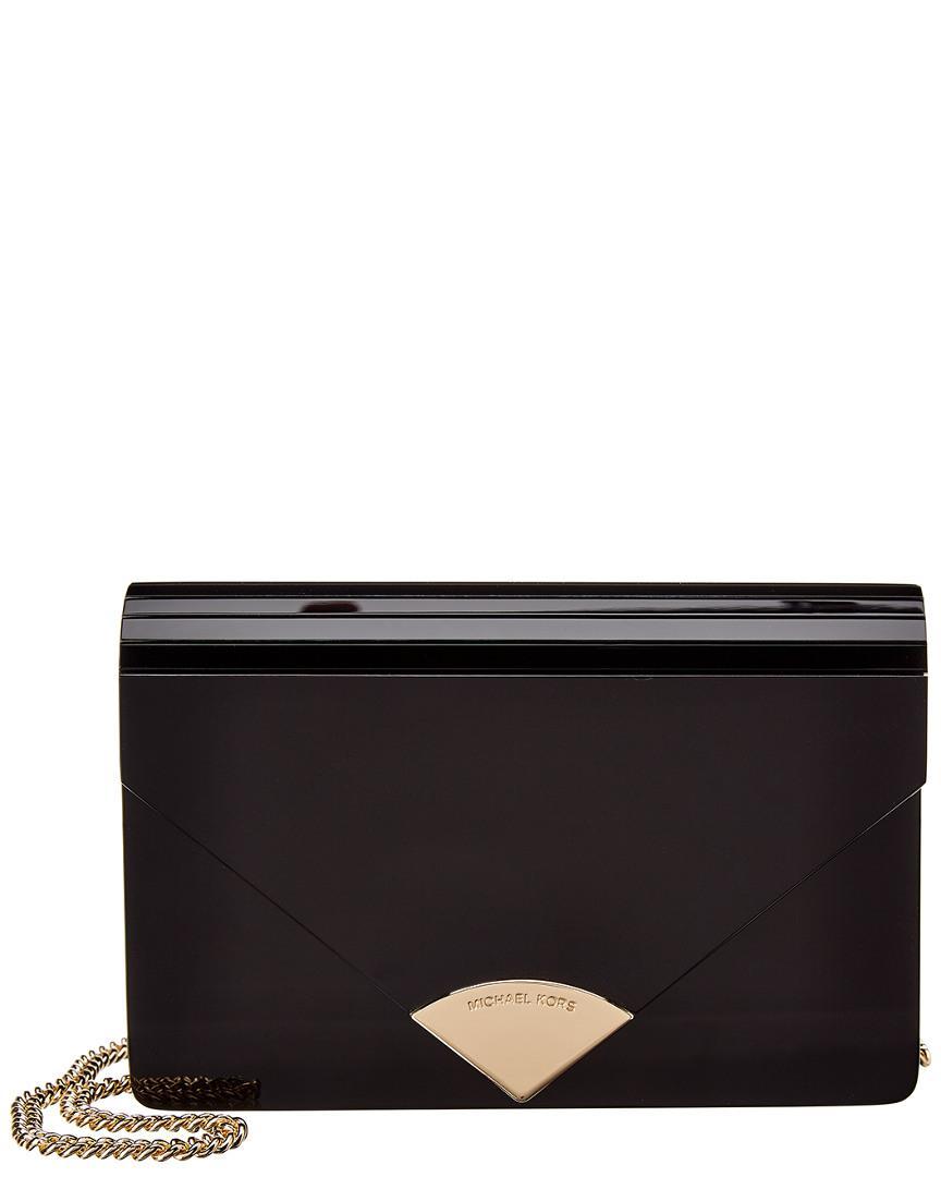 9bb4468cc12a MICHAEL Michael Kors. Women s Black Michael Kors Barbara Medium Envelope  Clutch