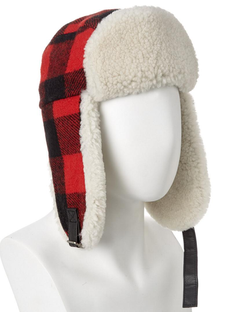3e1a9a1b52a Canada Goose Men s Wool-blend Pilot Hat in Red for Men - Lyst