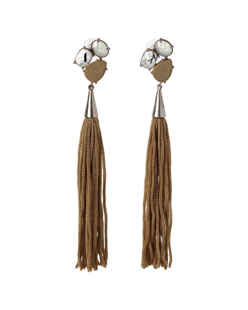 Mignonne Gavigan Sloane Stud Earrings w/ Tassels ShXpcV1v9j
