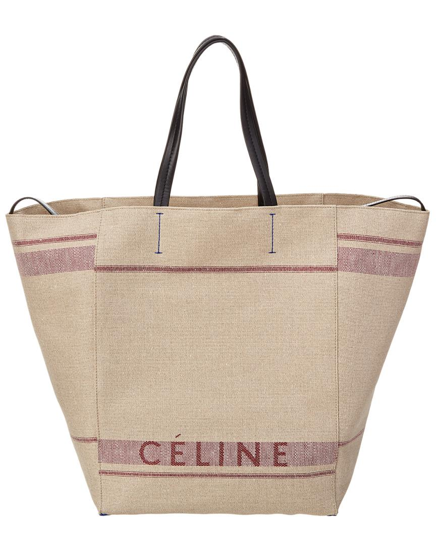 Lyst - Céline Céline Large Cabas Phantom Canvas Tote in Purple 45f3cbd0e1cd7