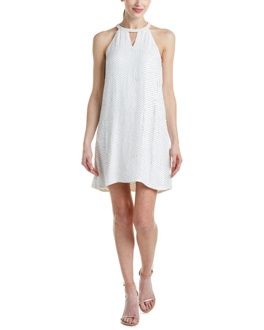 b0723add8d4 Lyst - Parker Black Silk Cocktail Dress in White - Save 65%