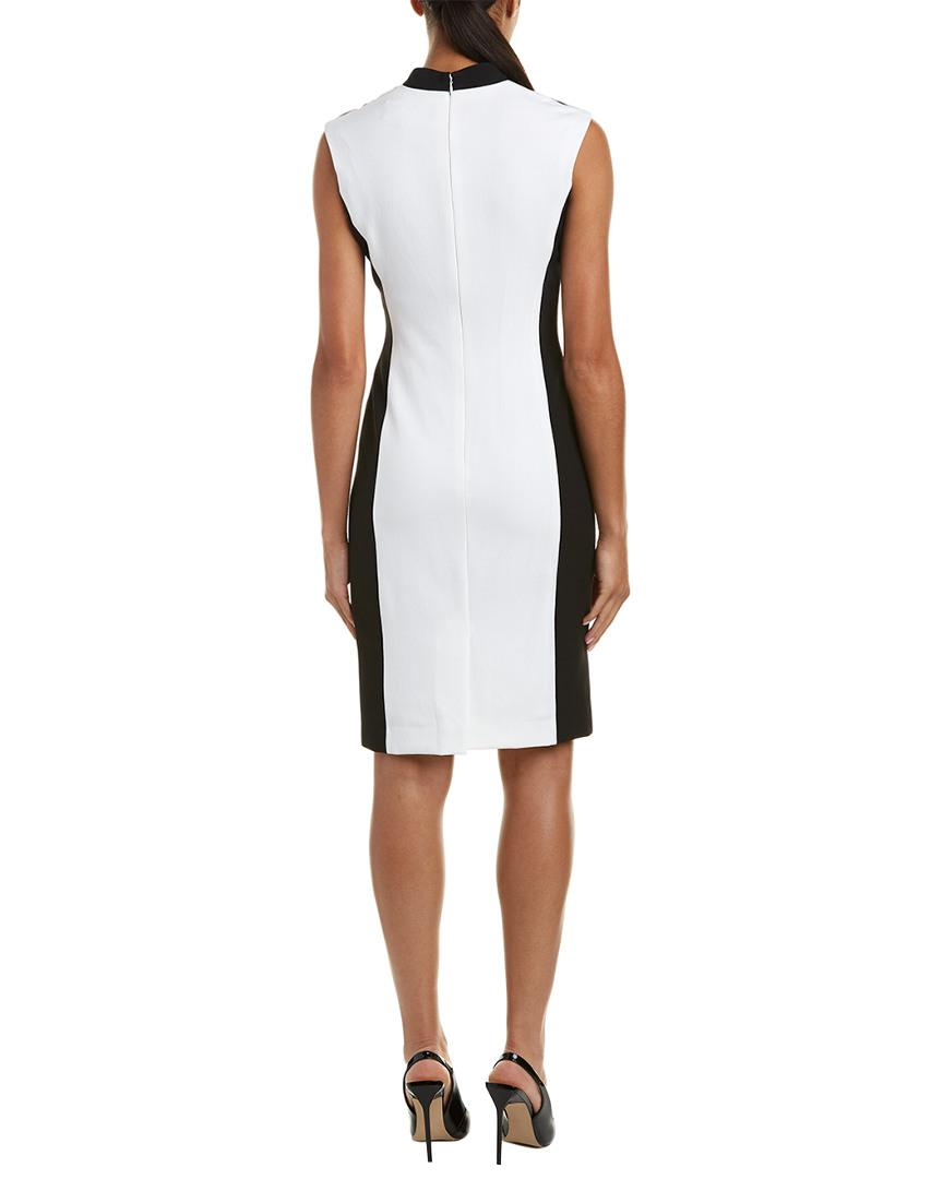 6a865bc7939f21 Lyst - Tahari Chelsea Rose Sheath Dress in White