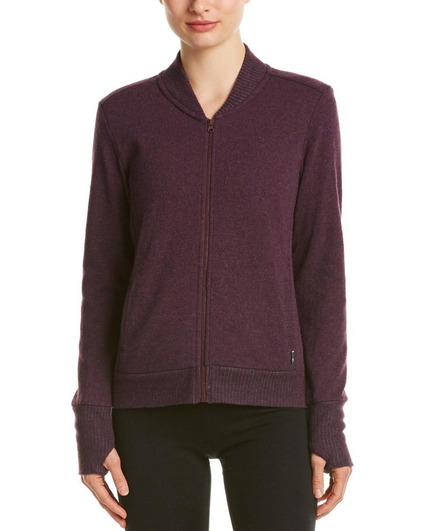 Lyst Mountain Hardwear Sarafin Long Sleeve Wool Blend Bomber In Purple
