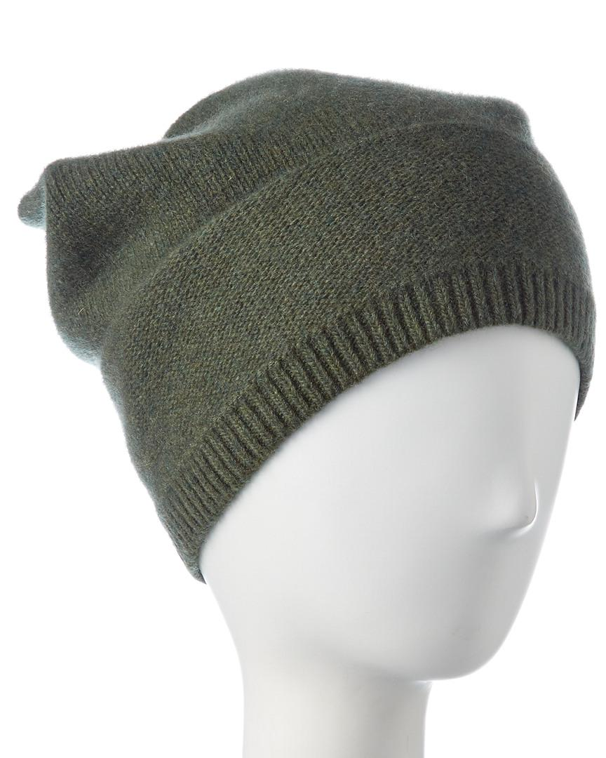 0027a50ecd4 Lyst - Portolano Cashmere Slouchy Hat in Green for Men