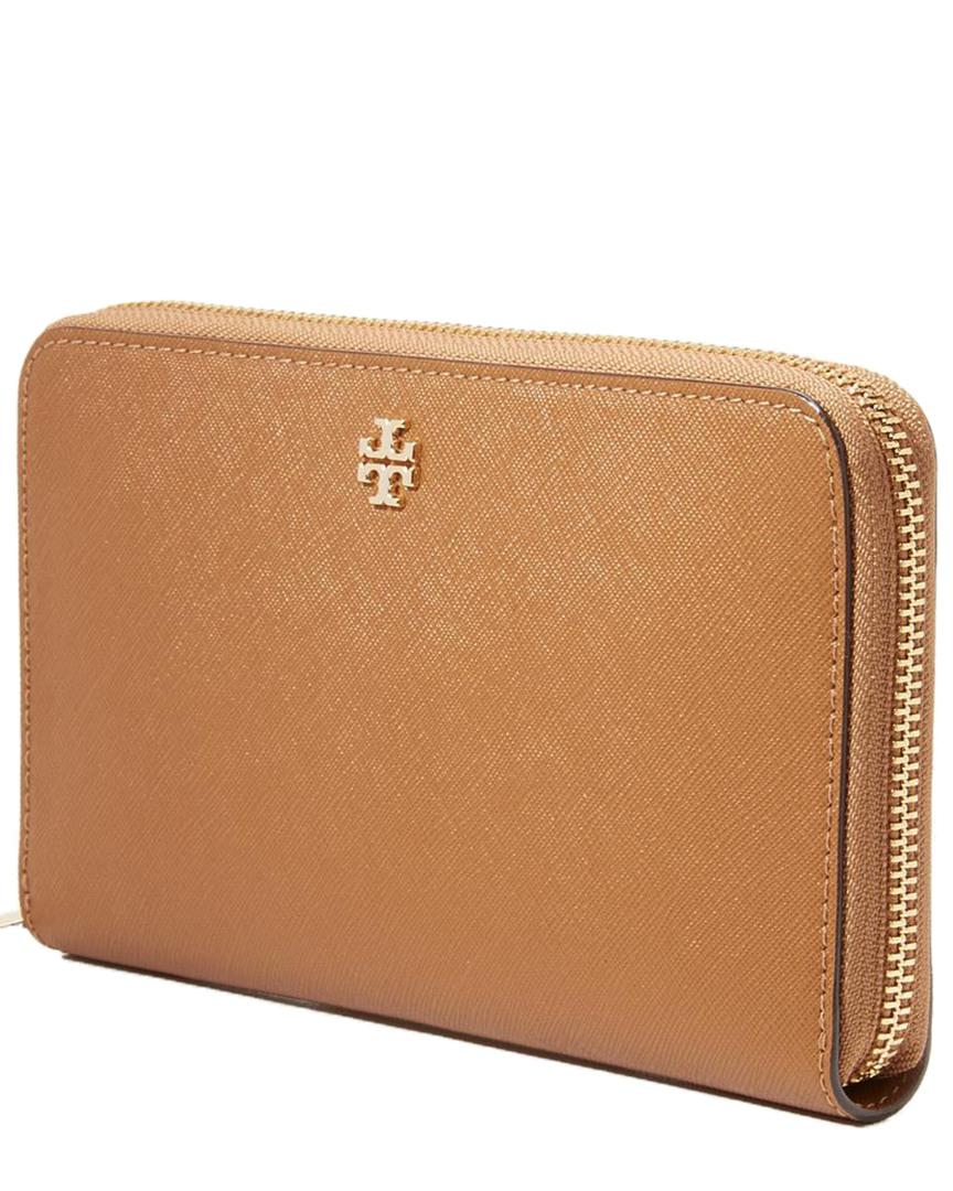 cf1c95546b6 Lyst - Tory Burch Emerson Zip Continental Wallet in Brown