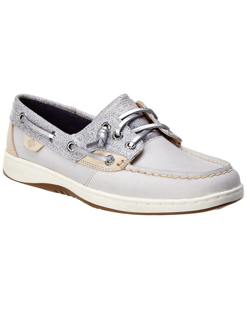 Rosefish Top Gray Boat In Sider Lyst Sperry Sparkle Leather Shoe W2DHE9IY