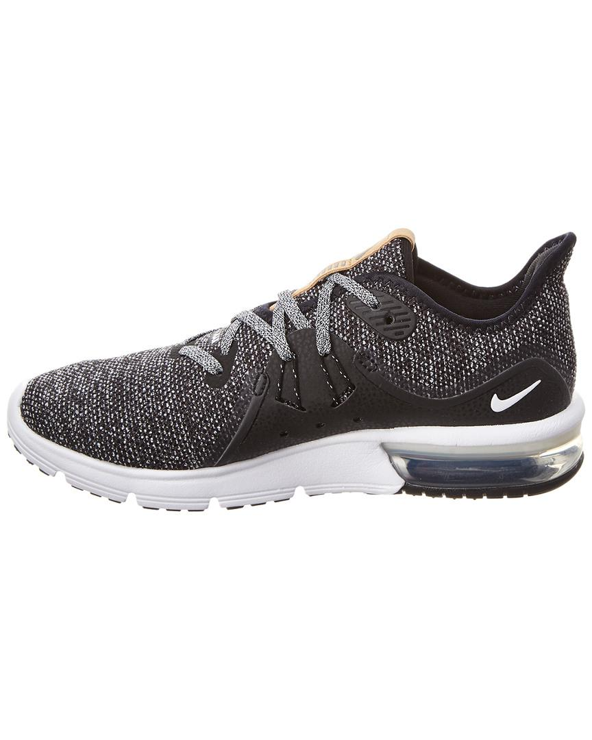 8eea1f4bd2 Nike Women's Air Max Sequent 3 Running Shoe in Black - Lyst