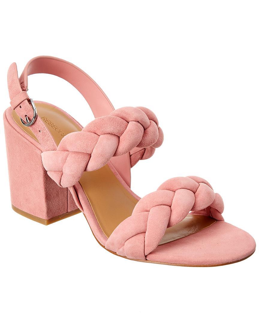 18317812e Rebecca Minkoff Candance Suede Sandal in Pink - Lyst