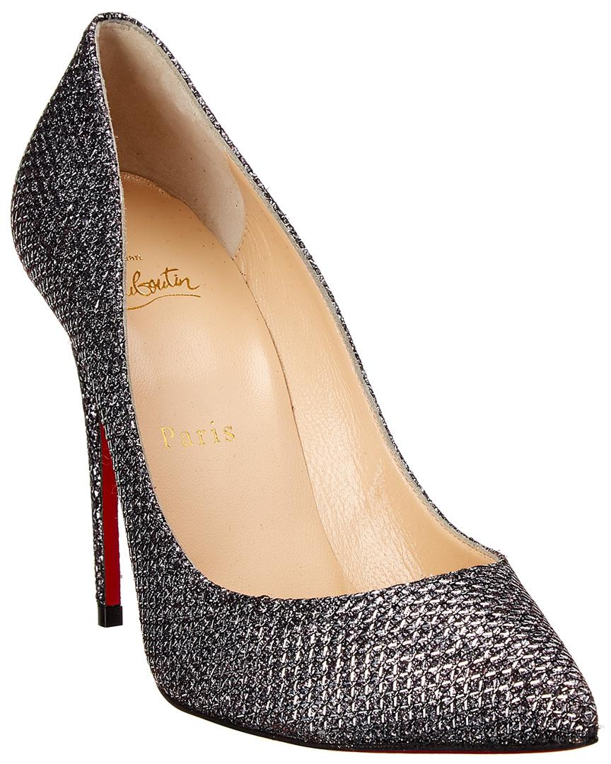1b1f61ac3a Lyst - Christian Louboutin Pigalle Follies 120 Leather Pump in Metallic