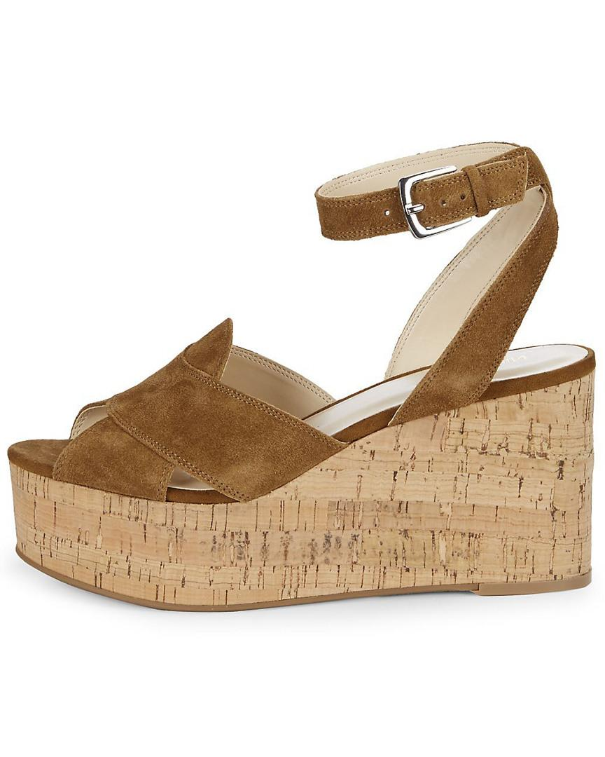 73ae68a6db9f Lyst - Nine West Kierredy Suede Wedge in Brown