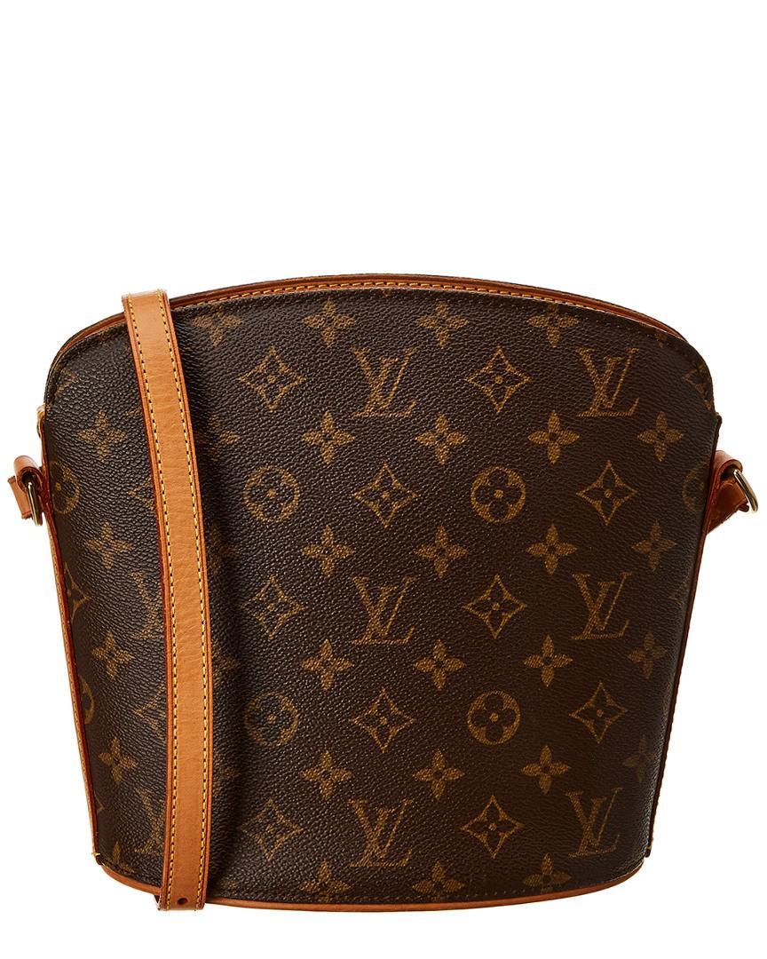 5d6e14baccad Louis Vuitton Monogram Canvas Drouot in Brown - Lyst